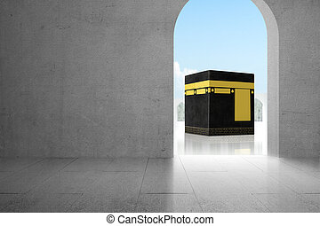 Door with holy Kaaba view