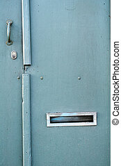 door with mail slot