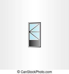 door with triangle window