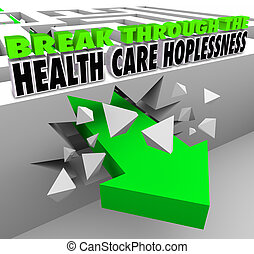 doorbreken, de, gezondheidszorg, hopelessness, krijgen,...