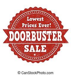 Doorbuster sale stamp