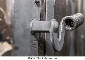Doorhandle of medieval gate