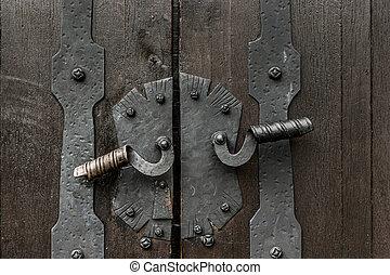 Doorhandles of medieval gate