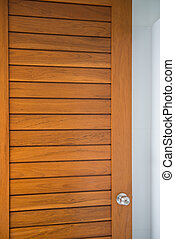 doorknob on the wood door