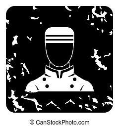 Doorman icon, grunge style
