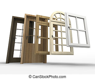 Doors and windows selection - Selection of doors and windows...