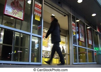 Doors - Automatic doors in shopping mall or supermarket