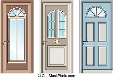 Doors - Choice of three entrance doors