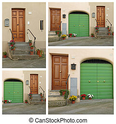 doors collage, Italy