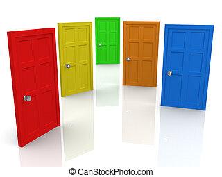 Doors - Computer Generated 3D Image - Doors .