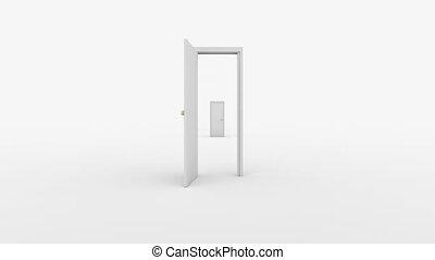 Doors flight - High speed pass between doors and final...