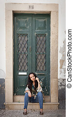 Doors in Faro - Images of old architecture in Faro, Portugal...
