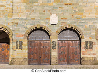 Doors of the historic Basilika in Werl, Germany