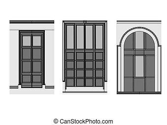 doors on white