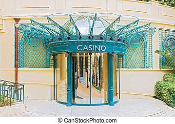 Doors to casino in Monte Carlo - Revolving side doors into ...
