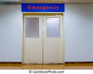 Doors to emergency room at hospital