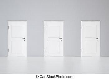 doors-your, três, escolha