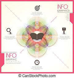 doorschijnend, communie, glanzend, abstract, infographic, ronde