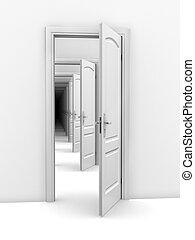 doorway abstract illustration