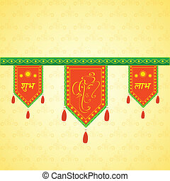 Doorway hanging for Indian traditional decoration - easy to...