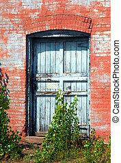 Doorway in Red Sandstone