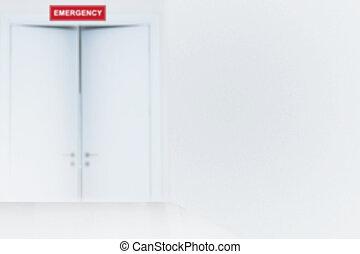 Doorway of Emergency room