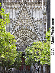 Doorway of Seville cathedral, Spain
