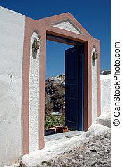 doorway on the greek isla