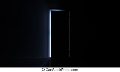 Doorway to Opportunity - A door opening to reveal a heavenly...