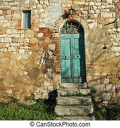 doorway to the tuscan farmhouse