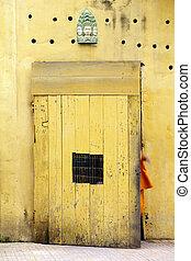 Doorway to Wat- Phnom Penh, Cambodia