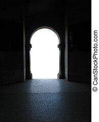 doorway to white