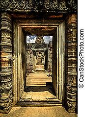 Doorways in Angkor Wat near Siem Reap combodia 2011.