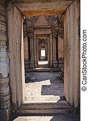 Doorways. - Several doorways in a temple in Thailand.