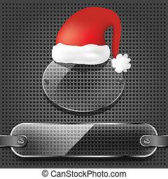 doorzichtigheid, hoedje, platen, kerstman