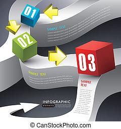 doosje, abstract, 3d, infographics