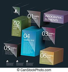 doosje, abstract, vector, 3d, infographics
