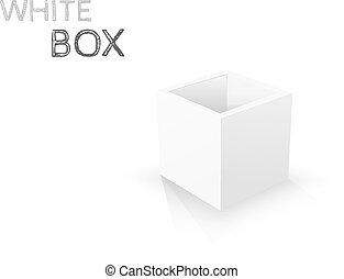 doosje, achtergrond., witte , vector, vrijstaand