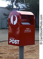 doosje, australiër, postkantoor