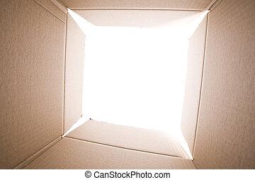 doosje, binnen, karton