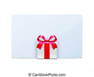 doosje, cadeau, begroetende kaart