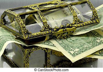 doosje, geld