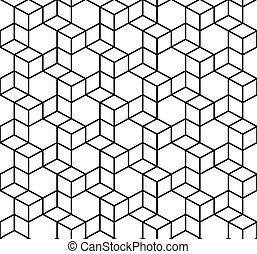 doosje, geometrisch, vector, pattern., seamless