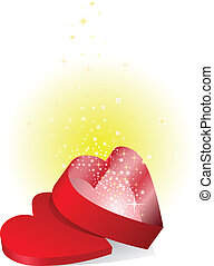doosje, glanzend, rood