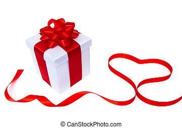 doosje, hart, cadeau