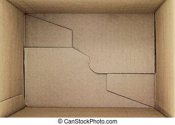 doosje, karton, 3d, lege, aanzicht