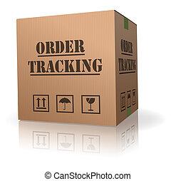 doosje, karton, order, tracking