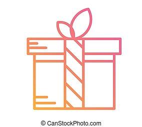 doosje, kleurrijke, cadeau, helling, vrijstaand, vakantie,...
