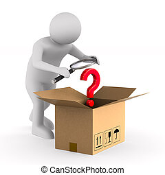 doosje, lading, vrijstaand, illustratie, achtergrond.,...