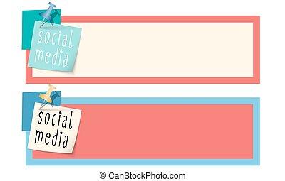 doosje, media, sociaal, woorden, tekst